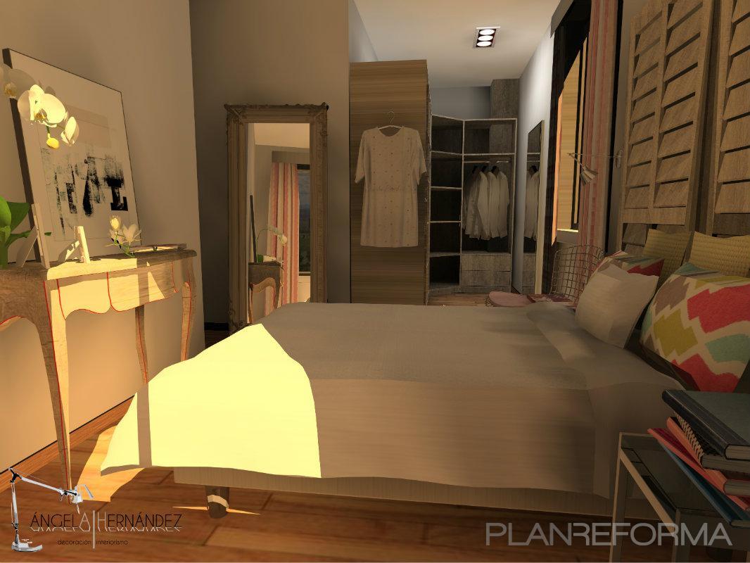 dormitorio vestidor style eclectico color amarillo beige