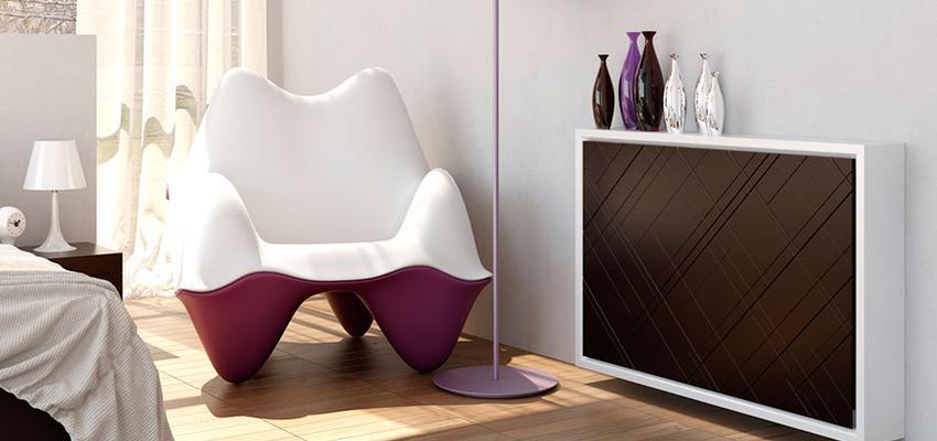 Dormitorio style vanguardista color violeta, marron, marron, blanco  diseñado por MUEBLES UTRILLA MOBILIARIO | Marca colaboradora | Copyright Utrilla Mobiliario