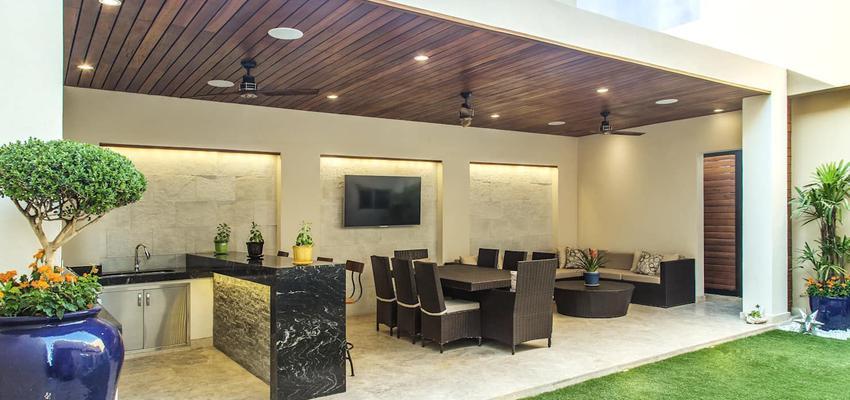 Exterior Estilo moderno Color verde, beige, negro  diseñado por Serveis Generals. JW | Gremio