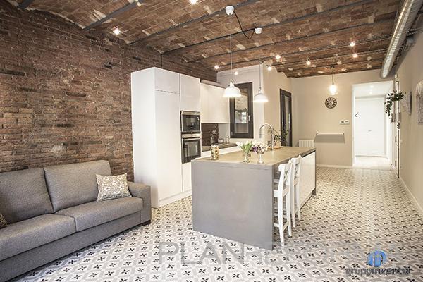 Cocina Estilo contemporaneo Color blanco, gris, negro  diseñado por grupoinventia | Arquitecto Técnico | Copyright Grupo Inventia