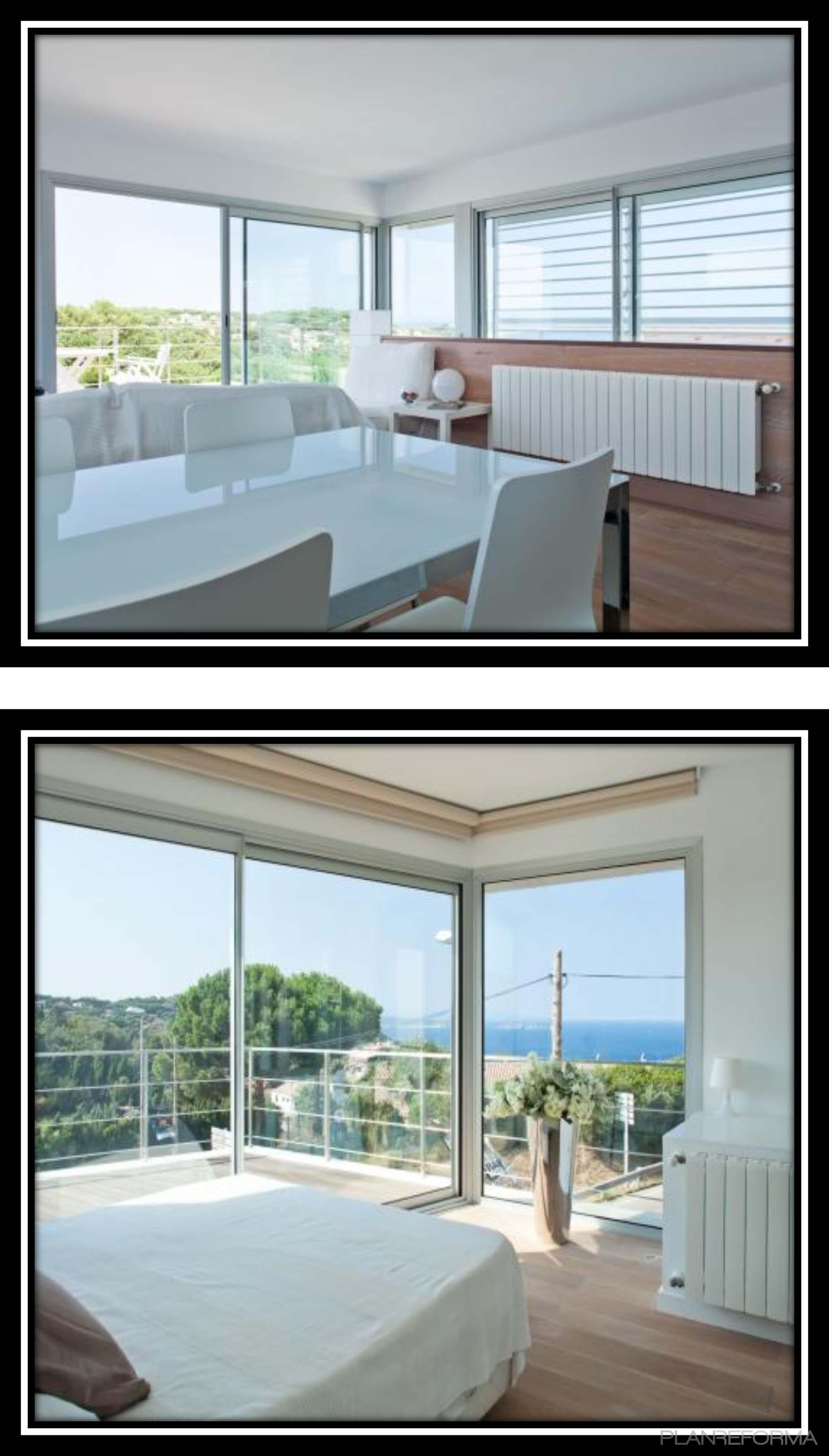 Dormitorio comedor estilo moderno color blanco negro for Comedor estilo moderno