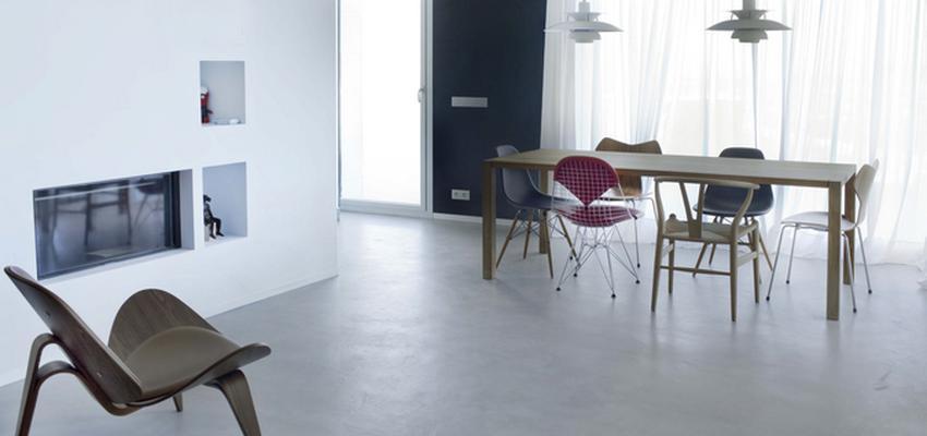 Comedor style moderno color marron, blanco, gris  diseñado por tecnocemento   Marca colaboradora   Copyright Tecnocemento