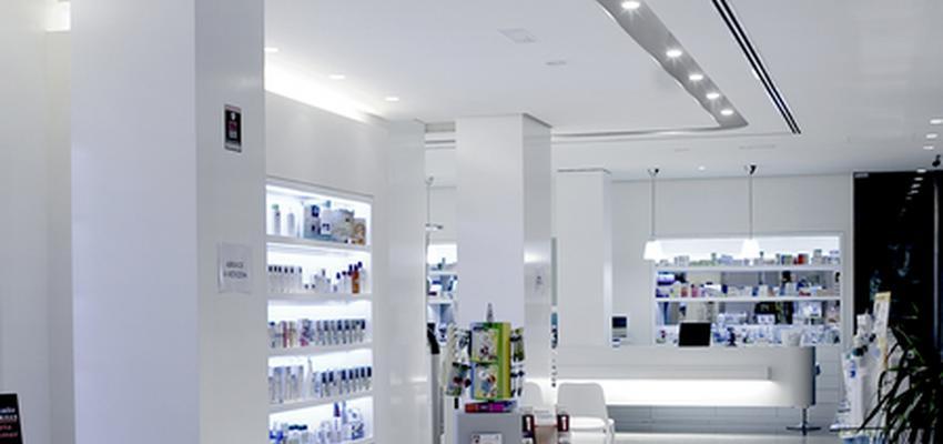 Tienda style moderno color blanco, gris  diseñado por tecnocemento | Marca colaboradora | Copyright Tecnocemento