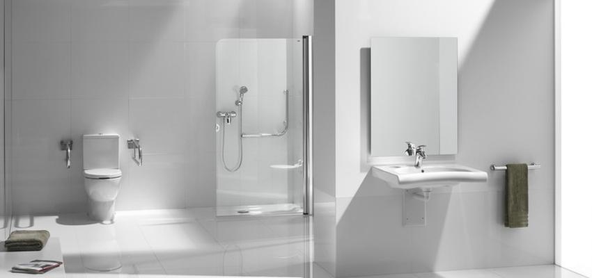 Baño style moderno color blanco  diseñado por ROCA    Marca colaboradora   Copyright ROCA
