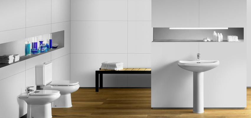 Baño style contemporaneo color marron, blanco  diseñado por ROCA  | Marca colaboradora | Copyright ROCA