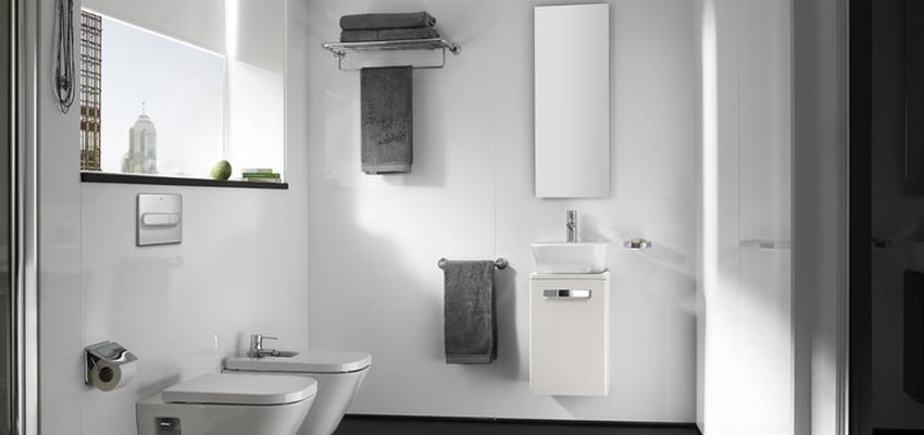 Baño style contemporaneo color blanco, negro  diseñado por ROCA  | Marca colaboradora | Copyright ROCA