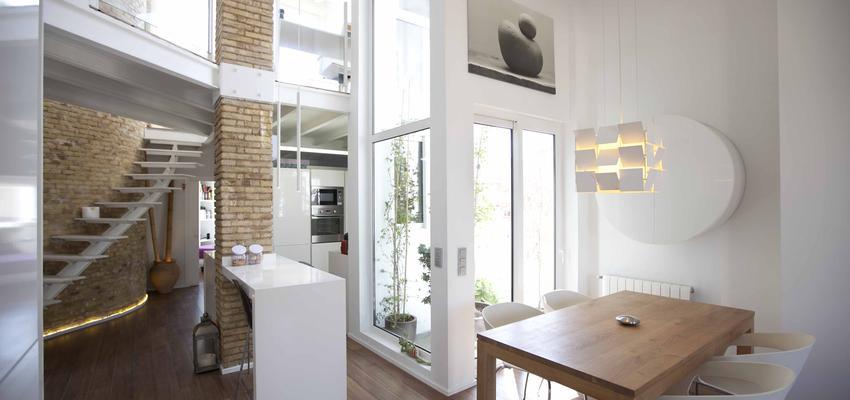Loft Estilo moderno Color beige  diseñado por Marcos Abad Porzelt | Arquitecto | Copyright Marcos Abad Porzelt