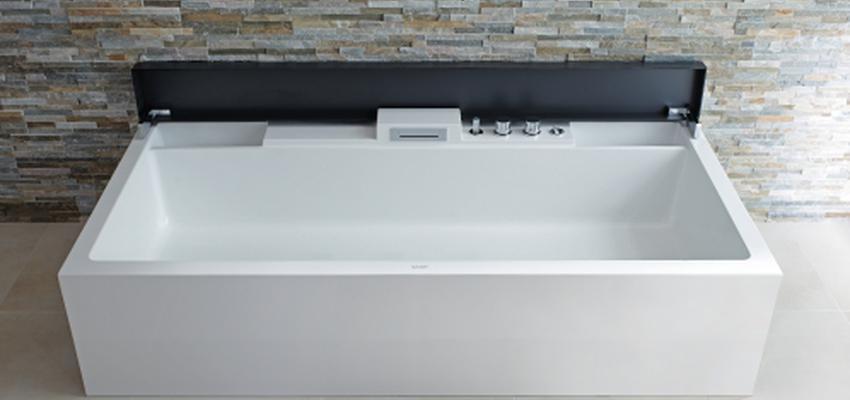 Baño style contemporaneo color beige, marron, blanco, negro  diseñado por DURAVIT | Marca colaboradora | Copyright Copyright Duravit AG