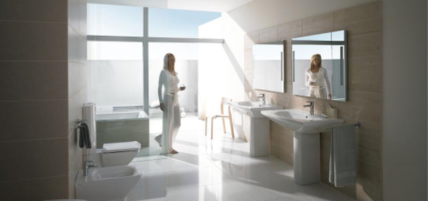 Baño style contemporaneo color beige, beige, blanco  diseñado por DURAVIT | Marca colaboradora | Copyright Copyright Duravit AG