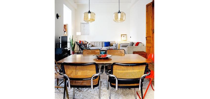 Comedor Estilo moderno Color beige, marron, beige, blanco, negro  diseñado por mcd/studio | Arquitecto | Copyright Soy el propietario