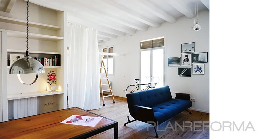 Comedor, Salon Estilo moderno Color marron, blanco, negro  diseñado por mcd/studio   Arquitecto   Copyright soy propietario de la imagen