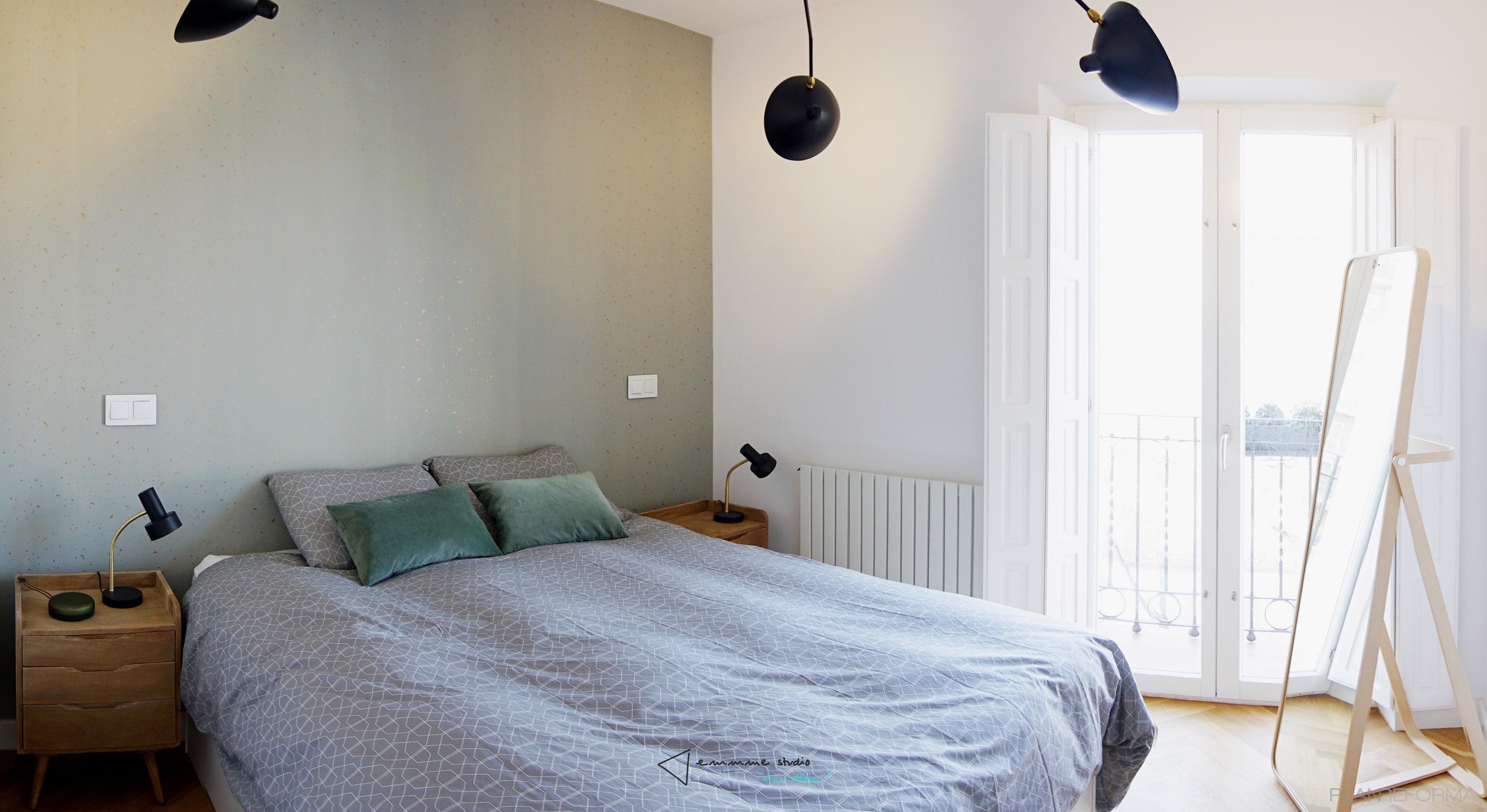 Dormitorio Estilo eclectico Color gris  diseñado por emmme studio | Arquitecto | Copyright emmme studio