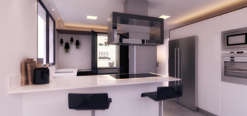 Cocina Estilo contemporaneo Color blanco, gris, negro, plateado  diseñado por emmme studio | Arquitecto | Copyright emmme studio