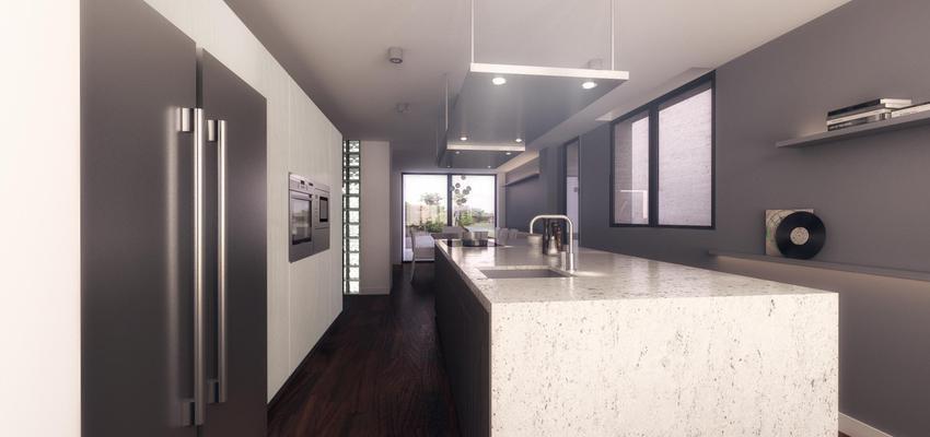 Comedor, Cocina Estilo moderno Color blanco, gris, gris  diseñado por emmme studio | Arquitecto | Copyright emmme studio