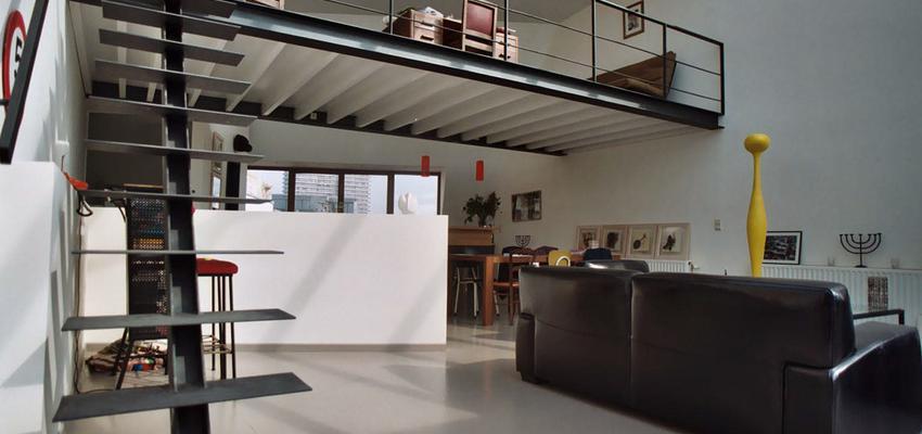 Comedor, Cocina, Salon, Loft Estilo contemporaneo Color rojo, blanco, gris, negro  diseñado por ONYON huerto creativo | Arquitecto | Copyright ONYON huerto creativo