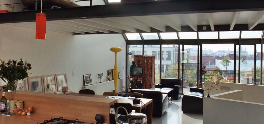 Loft Estilo contemporaneo Color marron, blanco, gris, negro  diseñado por ONYON huerto creativo | Arquitecto