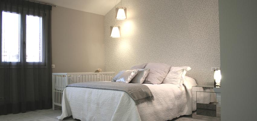 Dormitorio style contemporaneo color blanco, gris, gris  diseñado por gesHAB Interiorismo | Interiorista