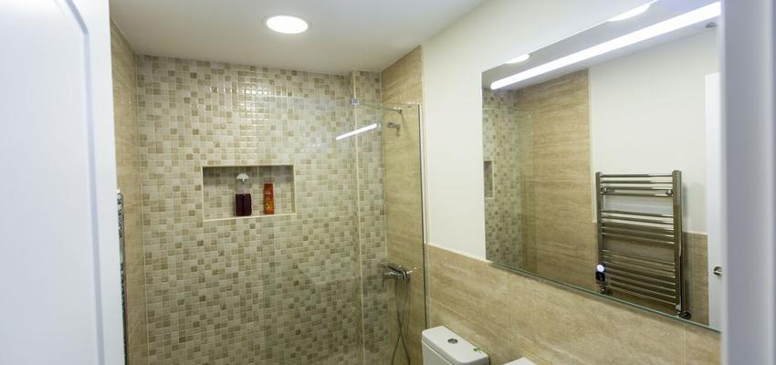 Baño Estilo contemporaneo Color beige, marron, marron, beige, marron  diseñado por ViviendaSana | Gremio | Copyright Vivienda Sana