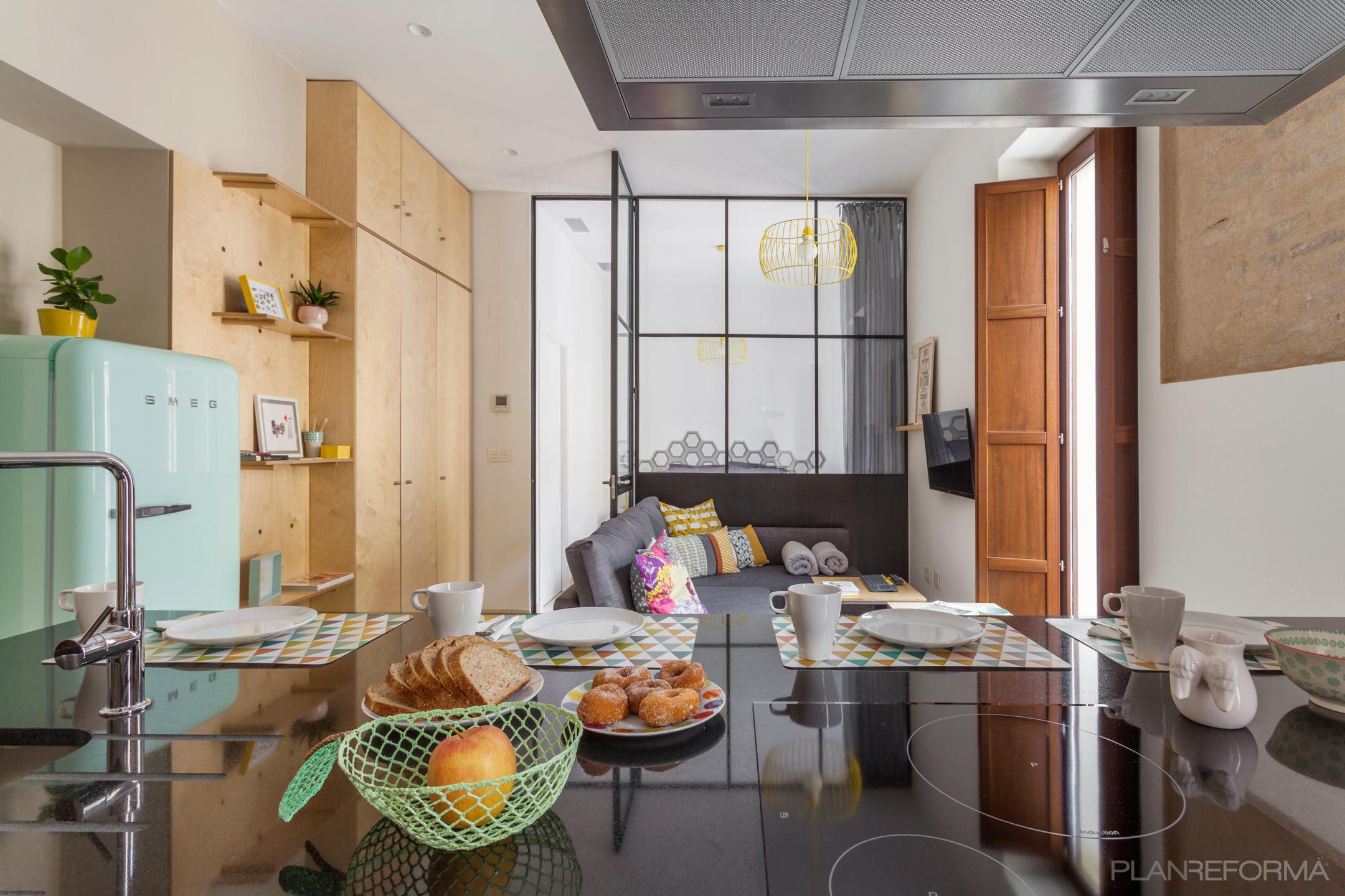 Salon Estilo vintage Color amarillo  diseñado por DSarquitectura | Arquitecto | Copyright DSarquitectura