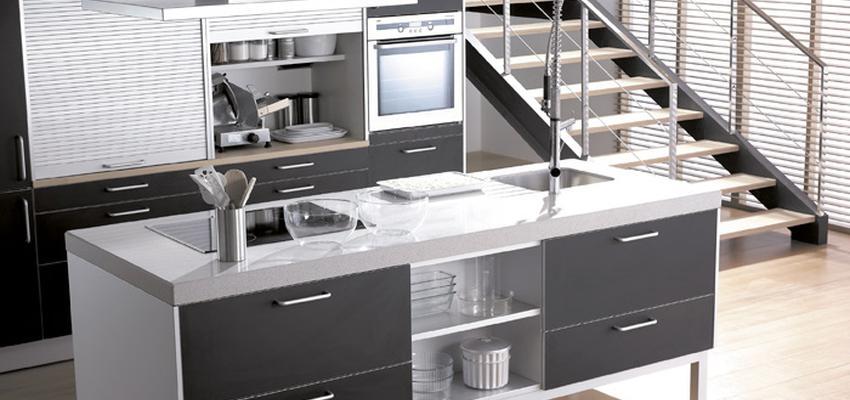 Comedor, Cocina style contemporaneo color marron, blanco, gris  diseñado por COCINAS SANTOS | Marca colaboradora | Copyright Cocinas SANTOS 2014