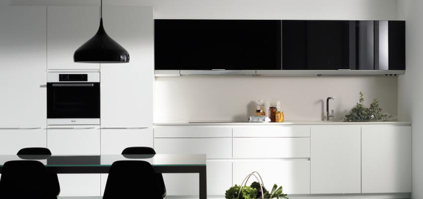 Comedor, Cocina Estilo moderno Color blanco, negro  diseñado por COCINAS SANTOS | Marca colaboradora | Copyright Cocinas SANTOS 2014