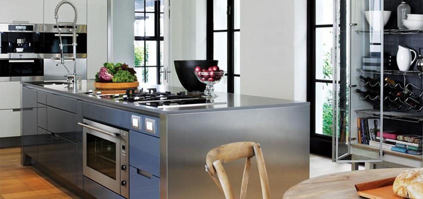Comedor, Cocina style contemporaneo color marron, blanco, negro, plateado  diseñado por COCINAS SANTOS | Marca colaboradora | Copyright Cocinas SANTOS 2014