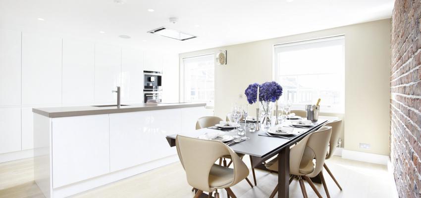 Cocina Estilo contemporaneo Color beige, marron, blanco  diseñado por aparici   Marca colaboradora   Copyright Aparici