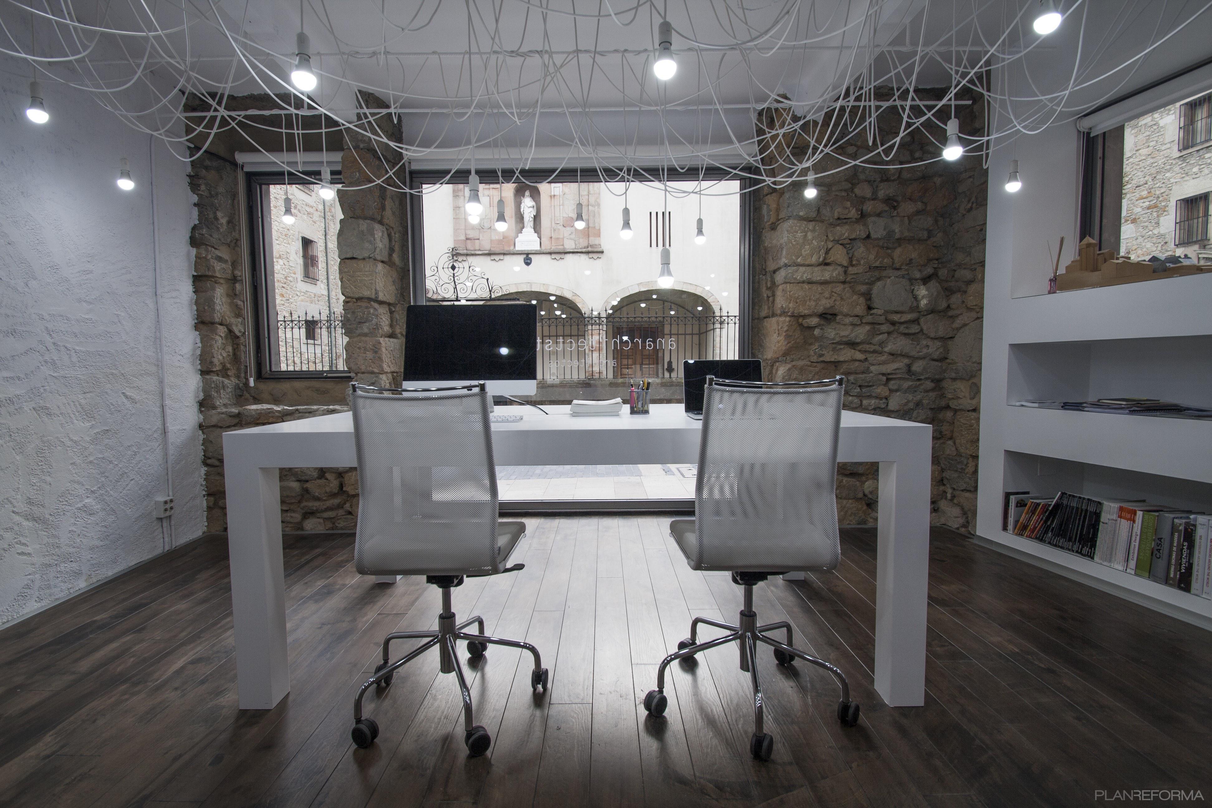 Estudio oficina loft estilo moderno color marron blanco for Estilo moderno