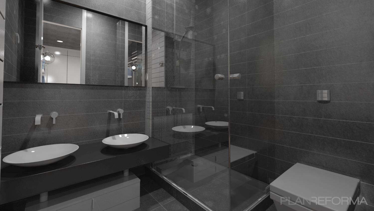 man bathroom ideas ba 241 o estilo moderno color gris gris negro 14105