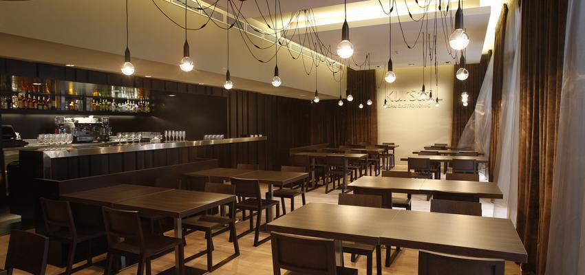 Comedor, Restaurante, Cafeteria, Bar style contemporaneo color amarillo, marron, bronce  diseñado por Xavier | Ingeniero