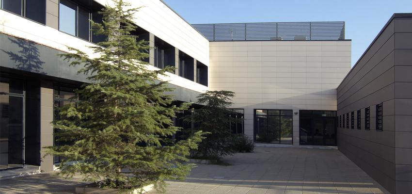 Patio, Exterior, Oficina Estilo contemporaneo Color verde  diseñado por ACTIVE Arquitectos   Arquitecto   Copyright ACTIVE Arquitectos