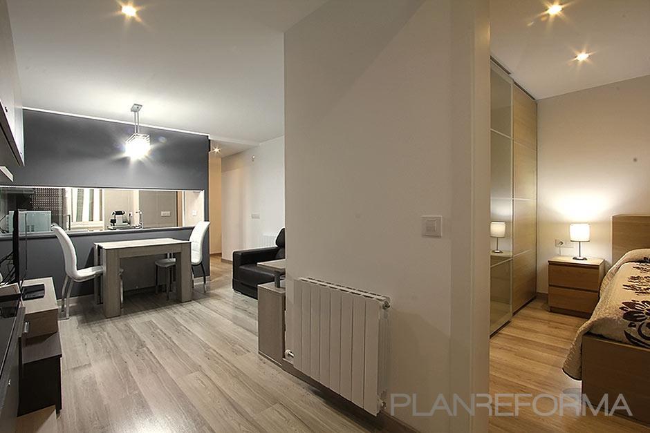 Comedor cocina salon style contemporaneo color beige - Interiorismo salon comedor ...