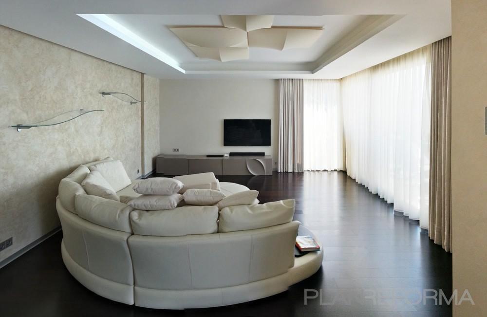 Salon Estilo moderno Color beige  diseñado por Vernice Style   Gremio   Copyright Vernice Style