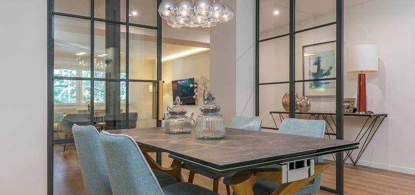 Comedor Estilo moderno Color turquesa, marron, blanco  diseñado por altia group S.L.U. | Gremio | Copyright altia Group