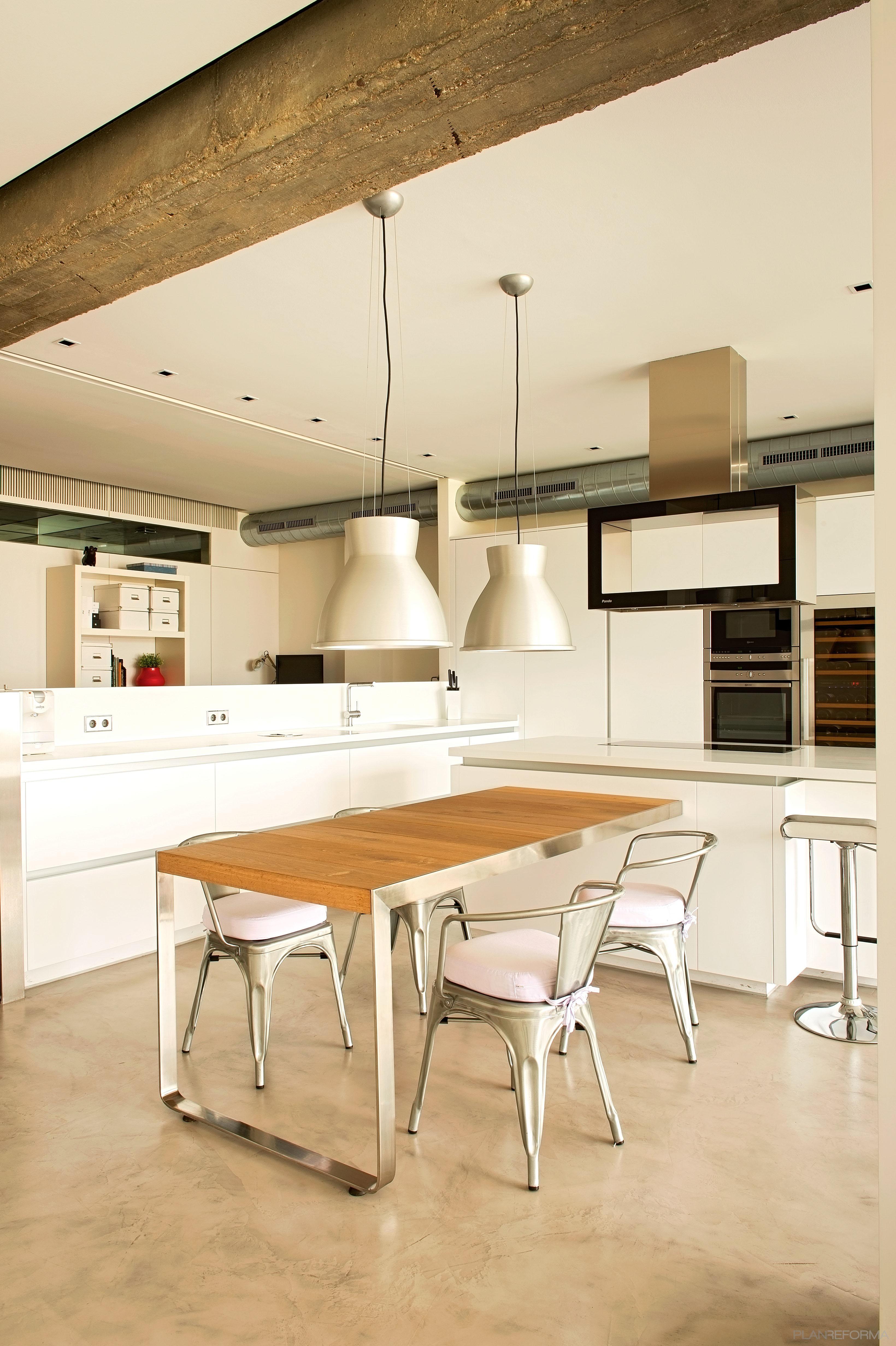 Estudio comedor cocina estilo moderno color marron for Cocina estilo moderno
