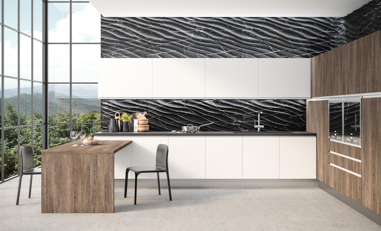 Cocina Estilo moderno Color azul cielo  diseñado por Teknika House | Gremio | Copyright Magnolia y MSD Panels