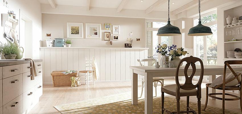 Comedor, Sala de la TV, Salon Estilo contemporaneo Color beige, blanco  diseñado por PARQUÉ MEISTER | Marca colaboradora | Copyright Meister 2014
