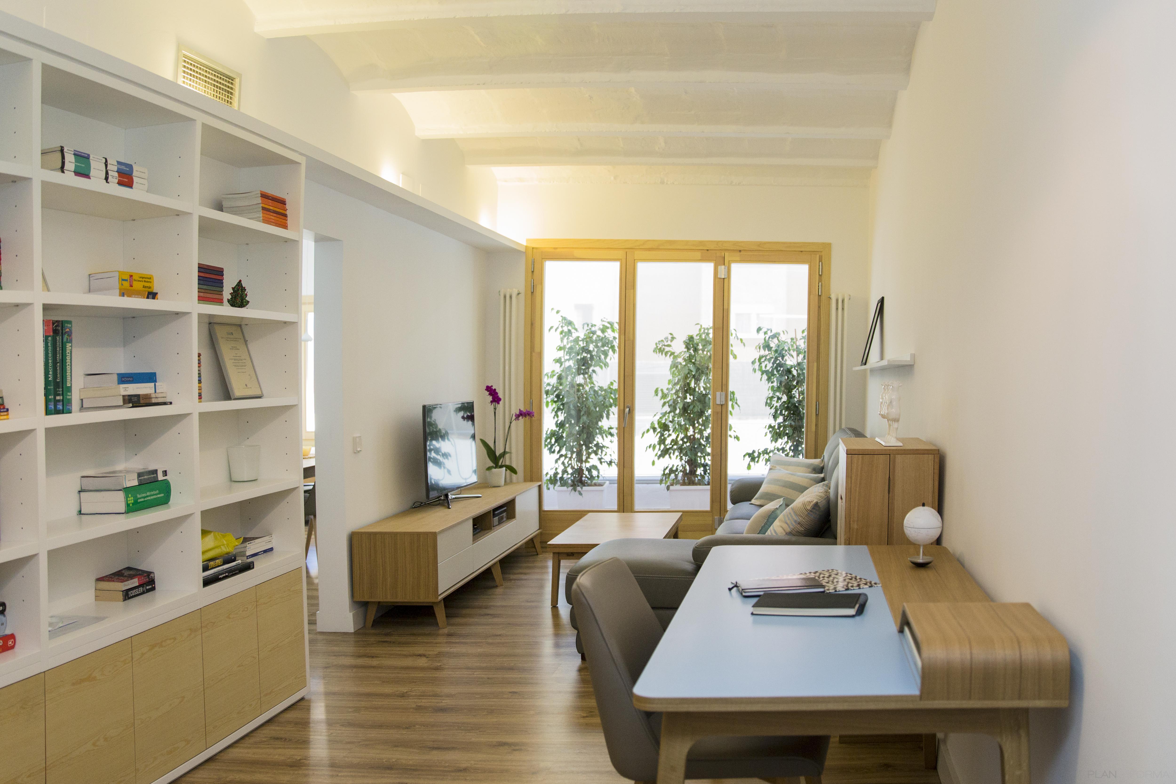 Estudio terraza salon style contemporaneo color beige for Ideas decoracion estudio