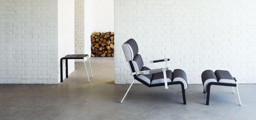 Exterior style contemporaneo color beige, blanco, gris, gris, negro  diseñado por KETTAL | Marca colaboradora | Copyright Kettal