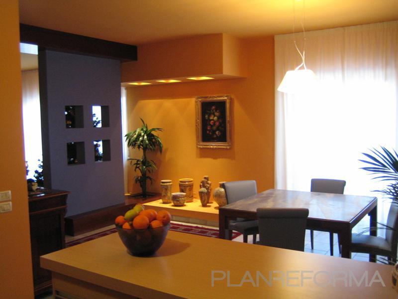 Comedor cocina estilo contemporaneo color ocre marron Estilo contemporaneo arquitectura
