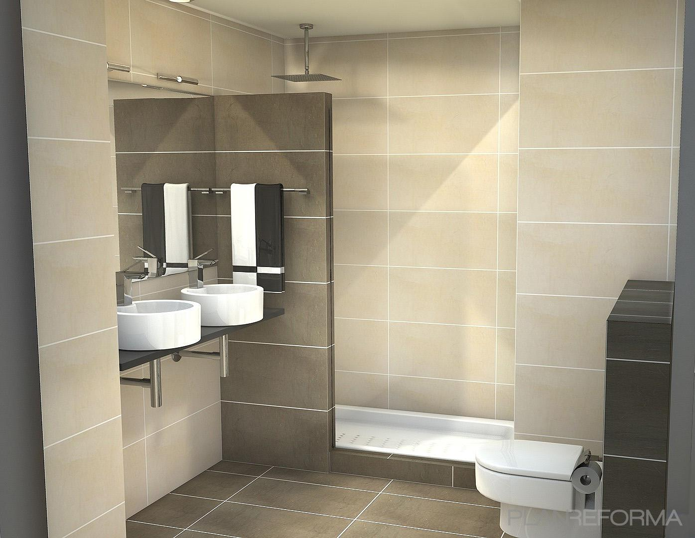 Baño, Tocador style contemporaneo color beige, marron, gris