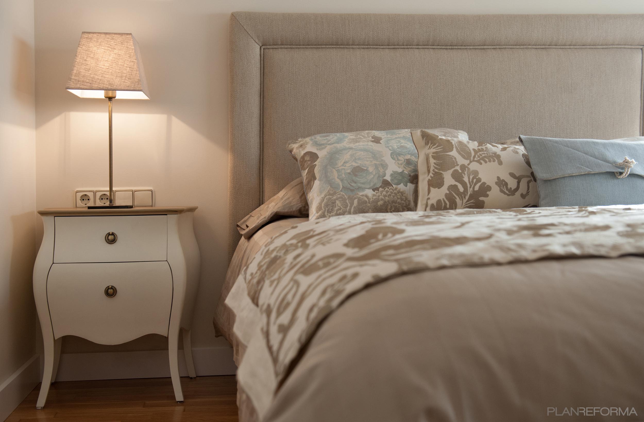 Dormitorio estilo contemporaneo color beige for Lamparas estilo contemporaneo