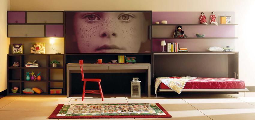 Dormitorio, Niños style moderno color violeta, gris, negro  diseñado por MUEBLES LAGRAMA   Marca colaboradora   Copyright Lagrama