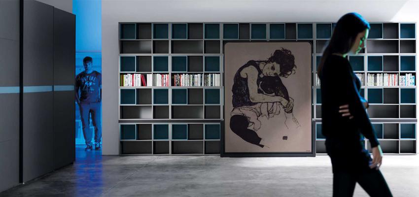 Vestidor style moderno color turquesa, gris, gris, negro  diseñado por MUEBLES LAGRAMA | Marca colaboradora | Copyright Lagrama