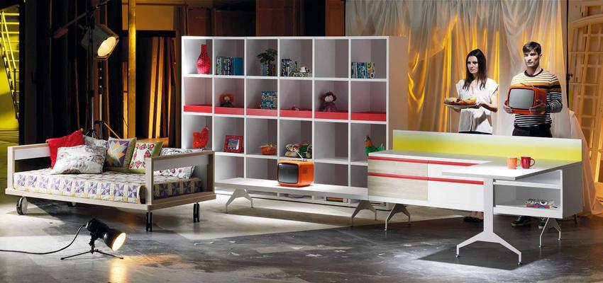 Dormitorio style moderno color rojo, amarillo, blanco  diseñado por MUEBLES LAGRAMA | Marca colaboradora | Copyright Lagrama