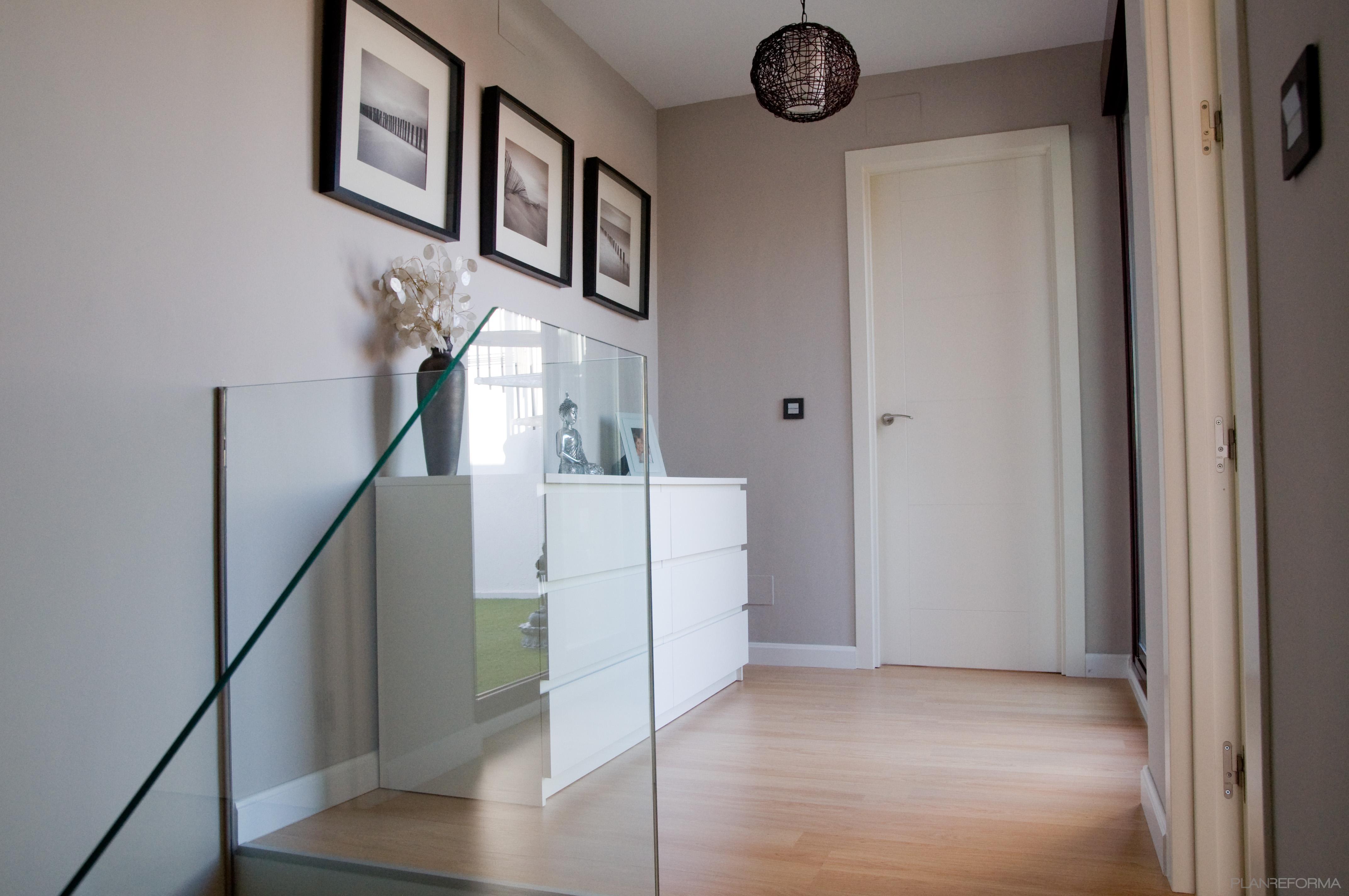 recibidor pasillo style contemporaneo color beige blanco