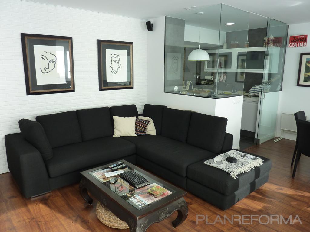 Cocina salon style contemporaneo color beige negro for Go mobiliario contemporaneo