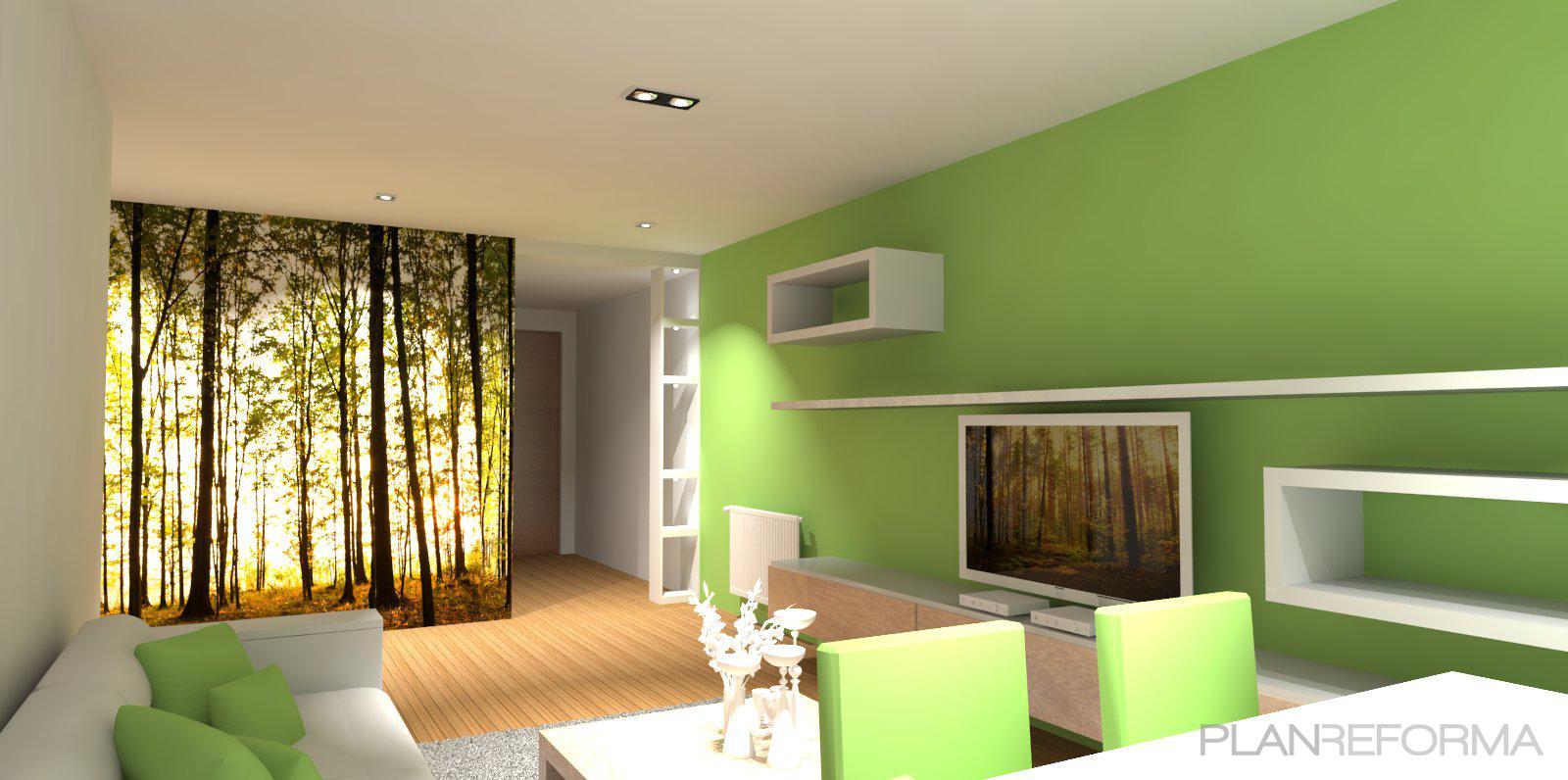 Comedor recibidor sala de la tv estilo contemporaneo for Sala estilo contemporaneo