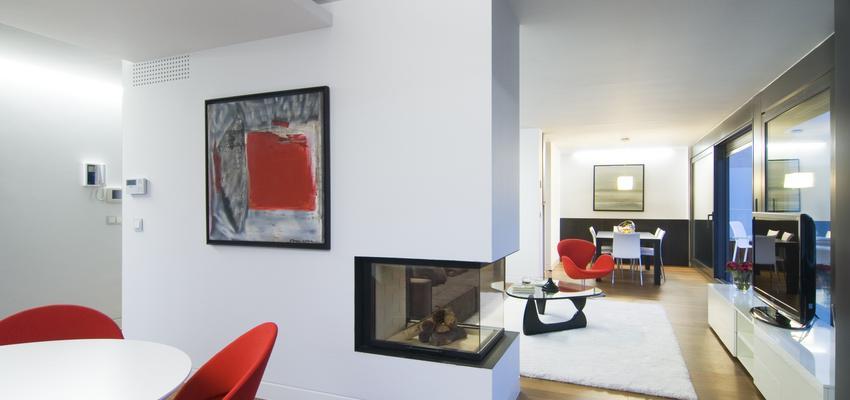 Comedor, Salon Estilo moderno Color blanco, bronce  diseñado por Castroferro | Arquitecto