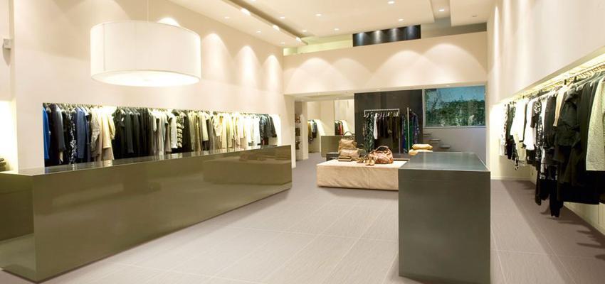 Tienda style contemporaneo color verde, beige, beige  diseñado por keraben | Marca colaboradora | Copyright Keraben